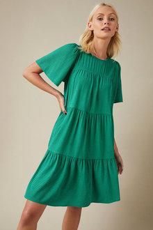 Emerge Textured Tiered Dress - 258287