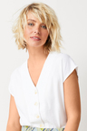 Emerge Linen Blend Button Front Shirt