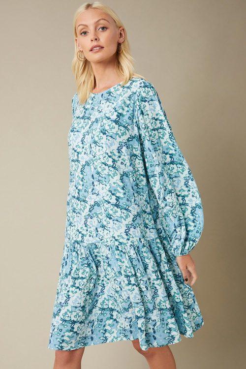 Emerge Long Sleeve Drop Waist Dress