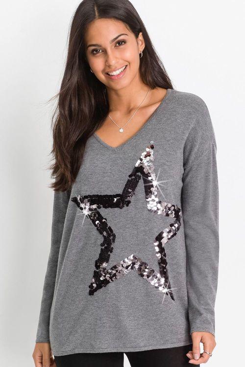 Urban Sequin Star Sweater