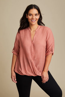 Sara Cross Over Shirt - 258323