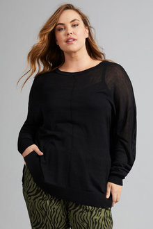 Sara Drop Shoulder Sweater - 258325