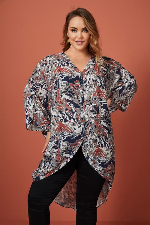Sara Hi-Low Longline Shirt