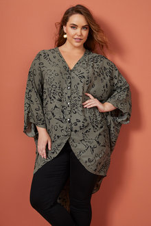 Sara Hi-Low Longline Shirt - 258327