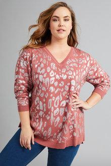 Sara Printed Sweater - 258328