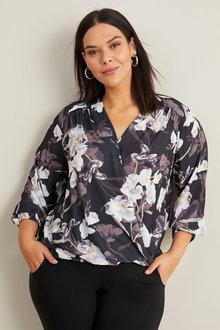 Sara Cross Over Shirt - 258331