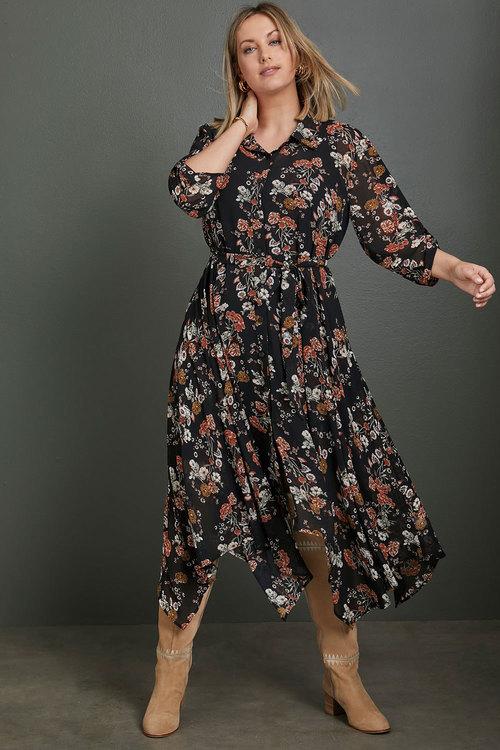 Sara Hi-Low Shirt Dress