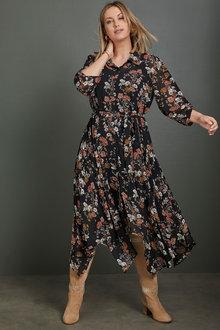 Sara Hi-Low Shirt Dress - 258332