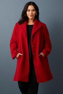 Sara Boiled Wool Coat - 258334