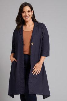 Sara Linen Blend Shirt Jacket - 258335