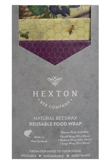 Hexton Beeswax Wraps Assorted Starter Pack - 258373
