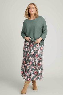 Sara Flowy Skirt - 258386