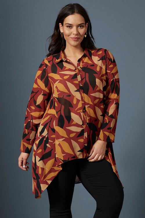 Sara Hi-Low Hem Shirt