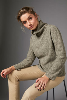 Capture Winter Knit High Neck Sweater - 258479