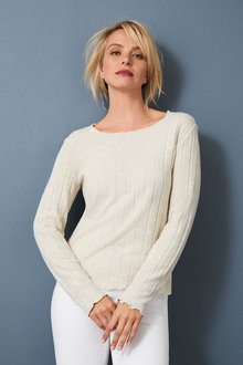 Capture Winter Knit Ribbed Top - 258481