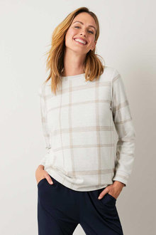 Capture Winter Knit Check Sweater - 258483