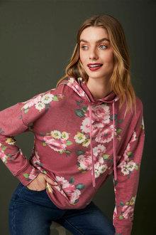 Capture Printed Hooded Sweatshirt - 258491