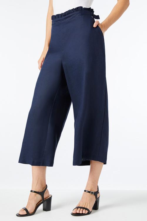 Capture Linen Crop Pant