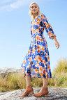 Emerge Puff Sleeve Midi Dress