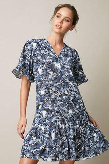 Emerge Ruffle Hem Dress - 258507