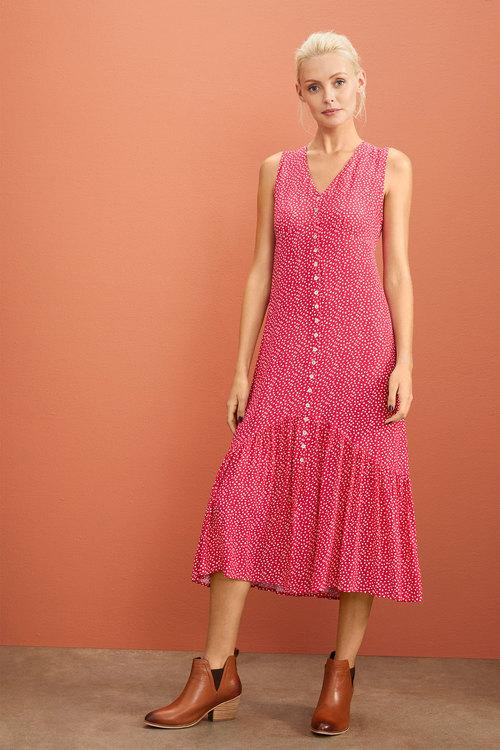 Emerge Ruffle Hem Midi Dress