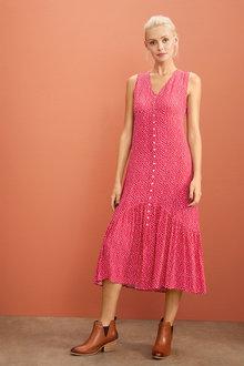 Emerge Ruffle Hem Midi Dress - 258513
