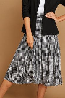 Capture Pleated Chiffon Skirt - 258530