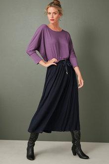 Capture Knit Pleated Skirt - 258557