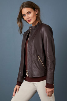 Capture Leather Jacket - 258562