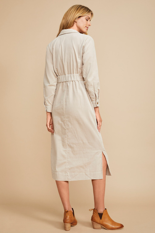 Grace Hill Cord Shirt Dress