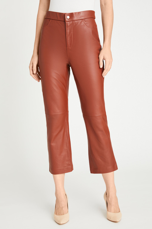 Grace Hill Leather Cropped Pant