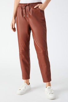 Grace Hill Leather Jogger - 258568