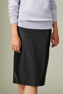 Grace Hill Leather Pencil Skirt - 258569