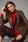 Grace Hill Minimalist Leather Biker Jacket