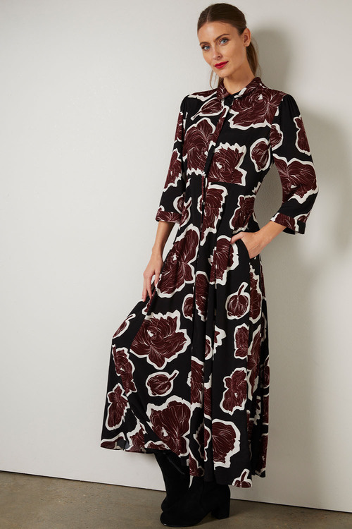Grace Hill Concealed Placket Shirt Dress