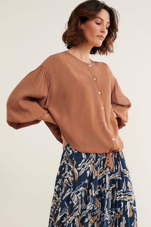 Grace Hill Blouson Sleeve Shirt
