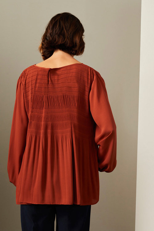 Grace Hill Pleated Blouse