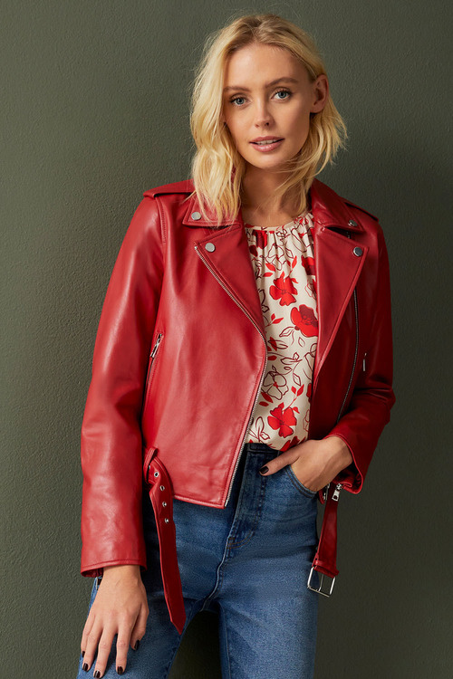 Emerge Leather Biker Jacket