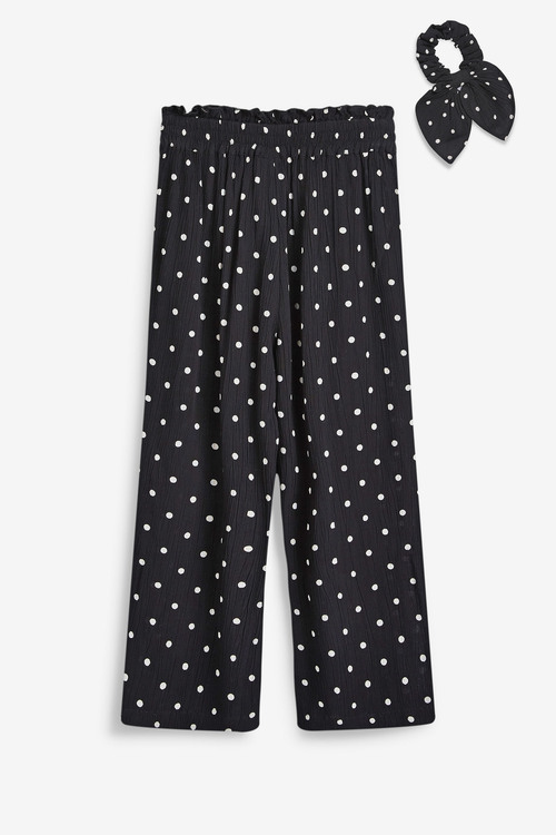 Next Culotte Trousers With Hair Tie (3-16yrs)