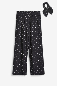 Next Culotte Trousers With Hair Tie (3-16yrs) - 258605