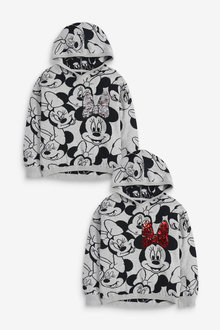 Next Minnie Mouse Sequin Licence Knitted Hoody (3-16yrs) - 258614
