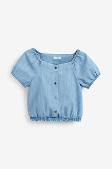 Next Button Through Puff Sleeve Blouse (3-16yrs) - 258623