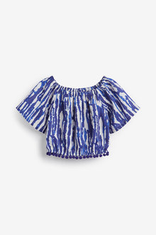Next Printed Pom Pom Blouse (3-16yrs) - 258625