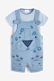 Next Applique Character Dungarees And Bodysuit Set (0mths-2yrs) - 258631