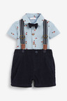 Next Bear Print Shirt Body, Cord Shorts With Braces And Bow Tie (0mths-2yrs)