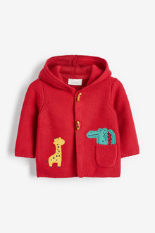Next Character Applique Hooded Cardigan (0mths-2yrs) - 258674