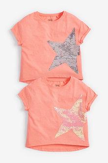 Next Flippy Sequin Fluro Star T-Shirt (3-16yrs) - 258691