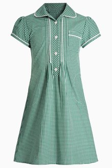 Next Button Front Lace Gingham Dress (3-14yrs) - 258711