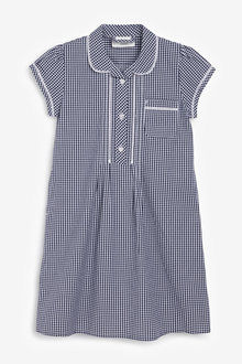 Next Button Front Lace Gingham Dress (3-14yrs) - 258715