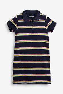 Next Polo Stripe Dress (3-16yrs) - 258719